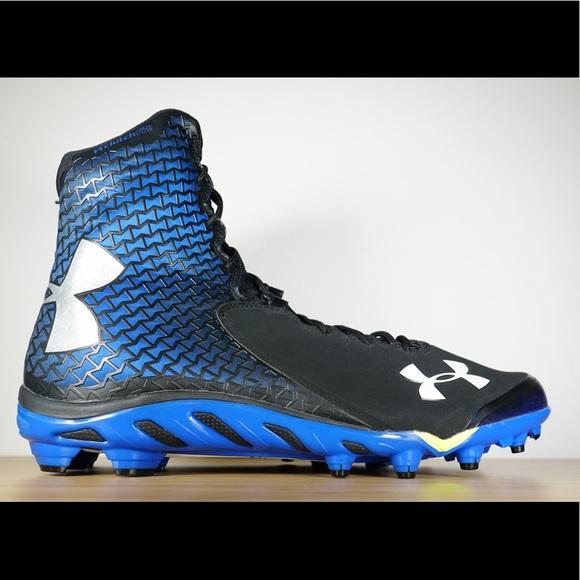 906e8e7a4745 Under Armour Shoes | Ua Spine Brawler Football Cleats Blue | Poshmark